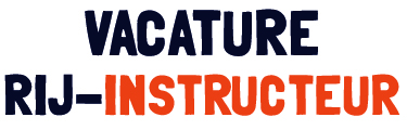 Vacature rij-instructeur categorie B